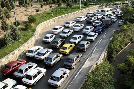 ترافیک نیمهسنگین در آزادراه تهران- کرج