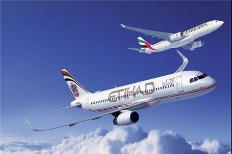 احتمال ادغام هواپیمایی امارات و اتحاد